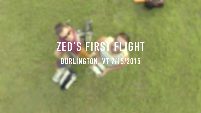 Zed's First Flight - Phantom 3 Pro 4K in Burlington VT